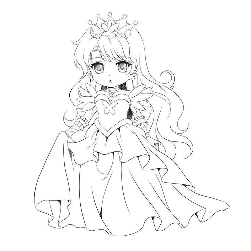 chibi belle coloring pages