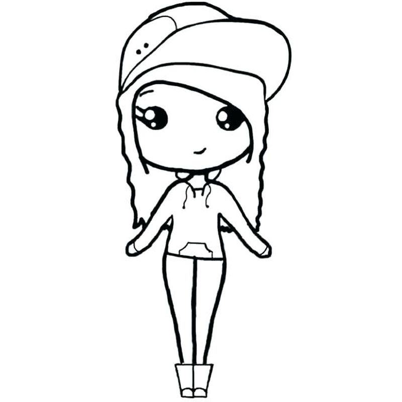 chibi bff coloring pages