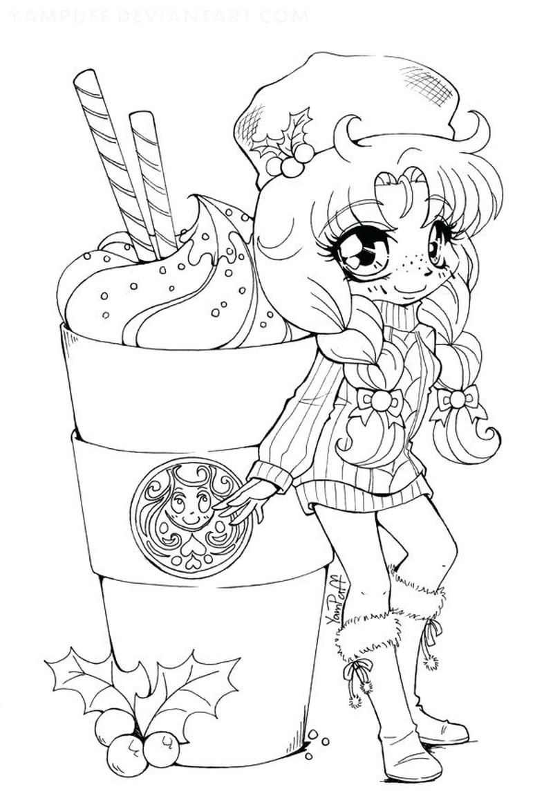 chibi christmas coloring pages