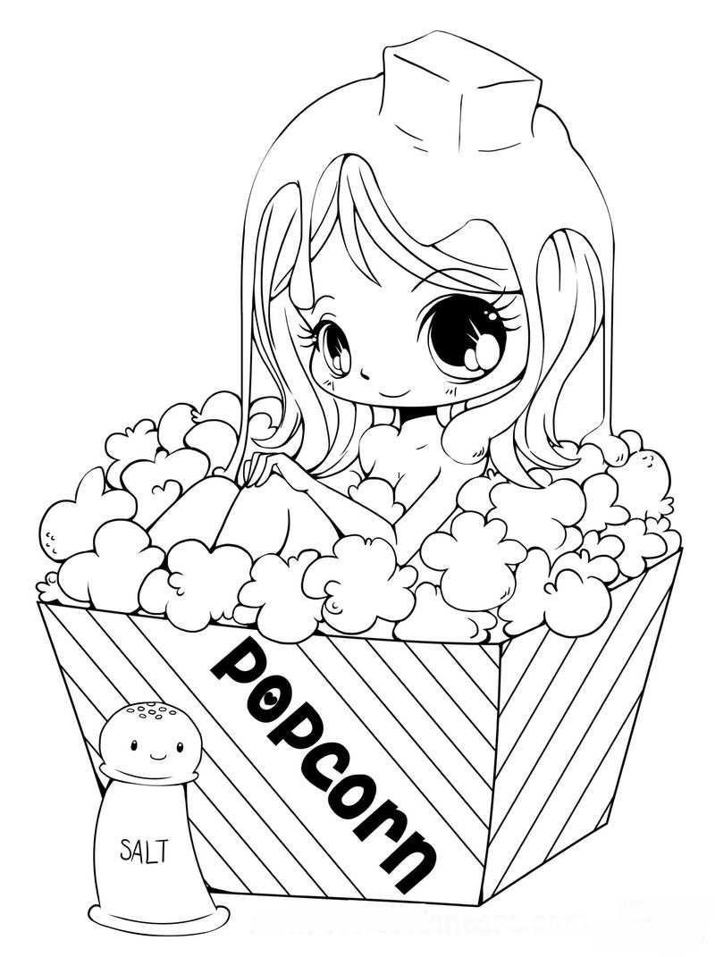 chibi coloring pages for adults00