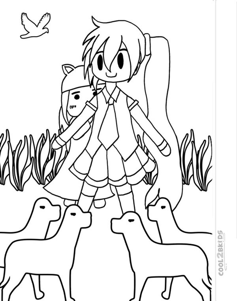 chibi coloring pages printable