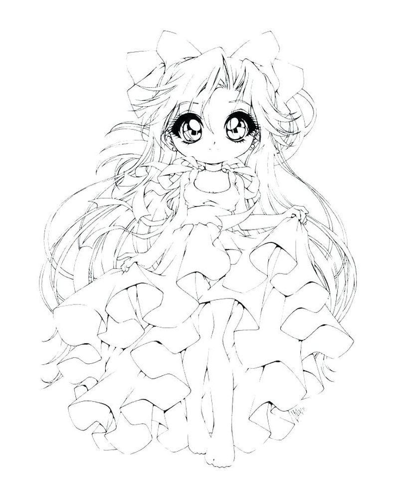 chibi doll coloring pages