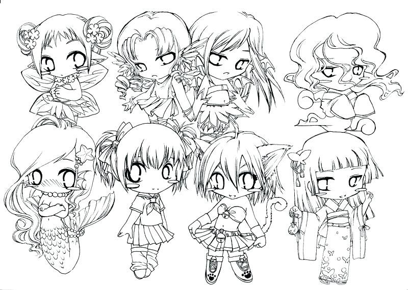 chibi food coloring pages