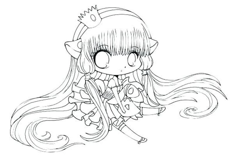 chibi food girl coloring pages