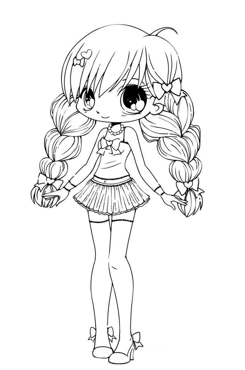 chibi fox coloring pages