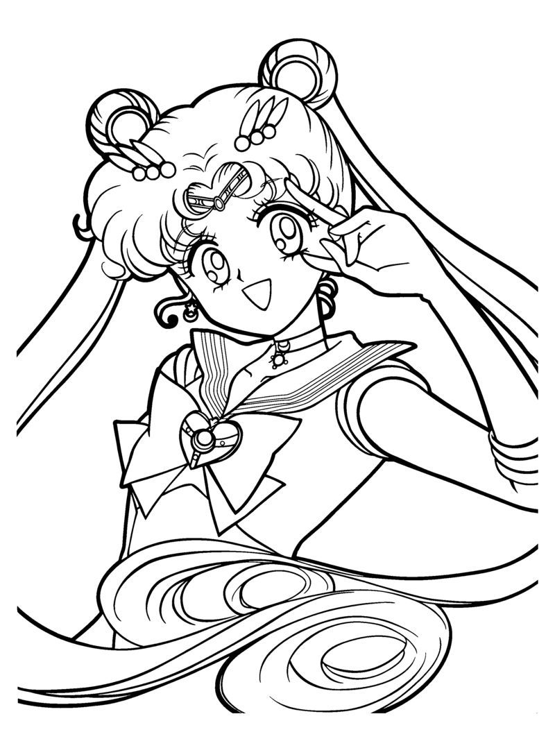 chibi sailor moon coloring pages