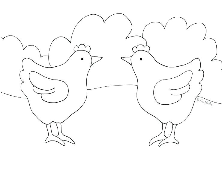 chicken coloring book pages