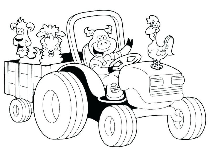 childrens coloring pages farm animals