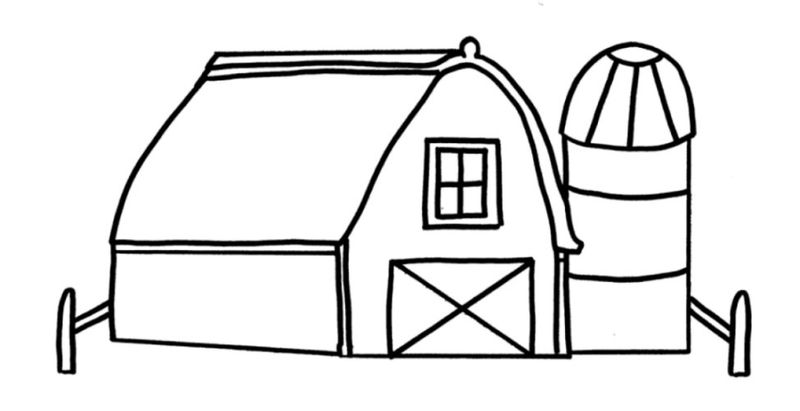 childrens farm coloring pages