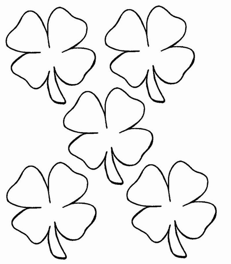 christian shamrock coloring pages