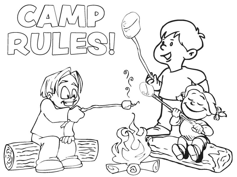 christmas camping coloring pages