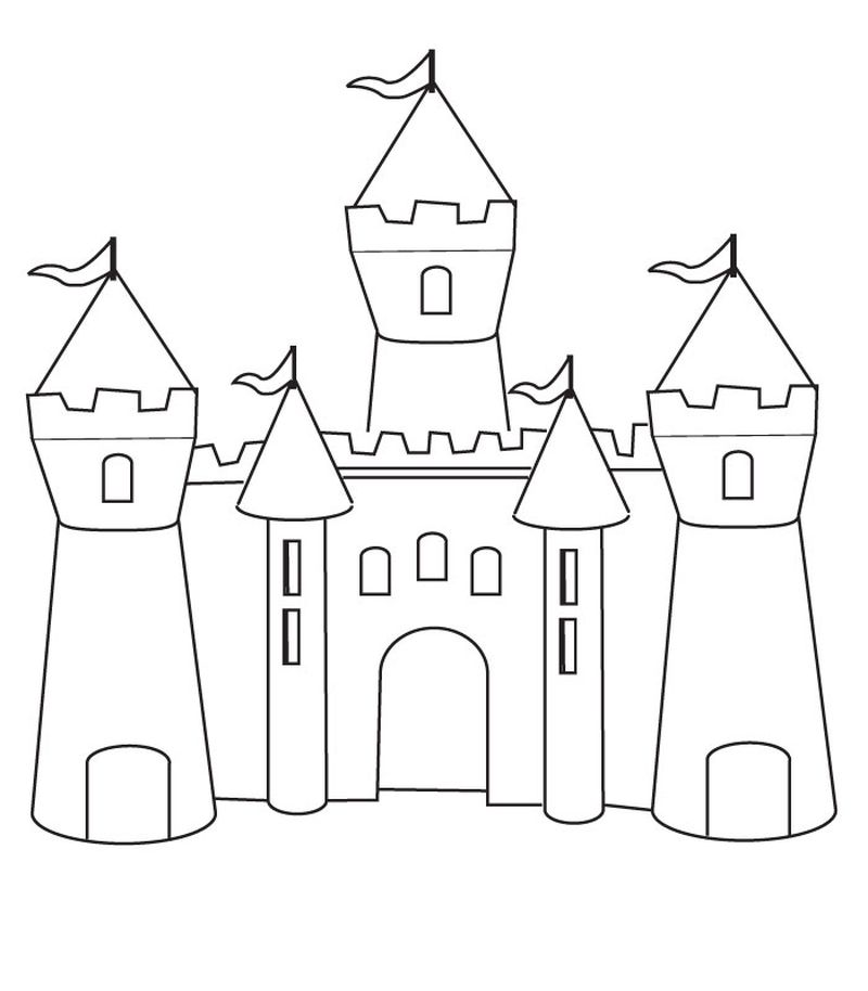 christmas castle coloring pages