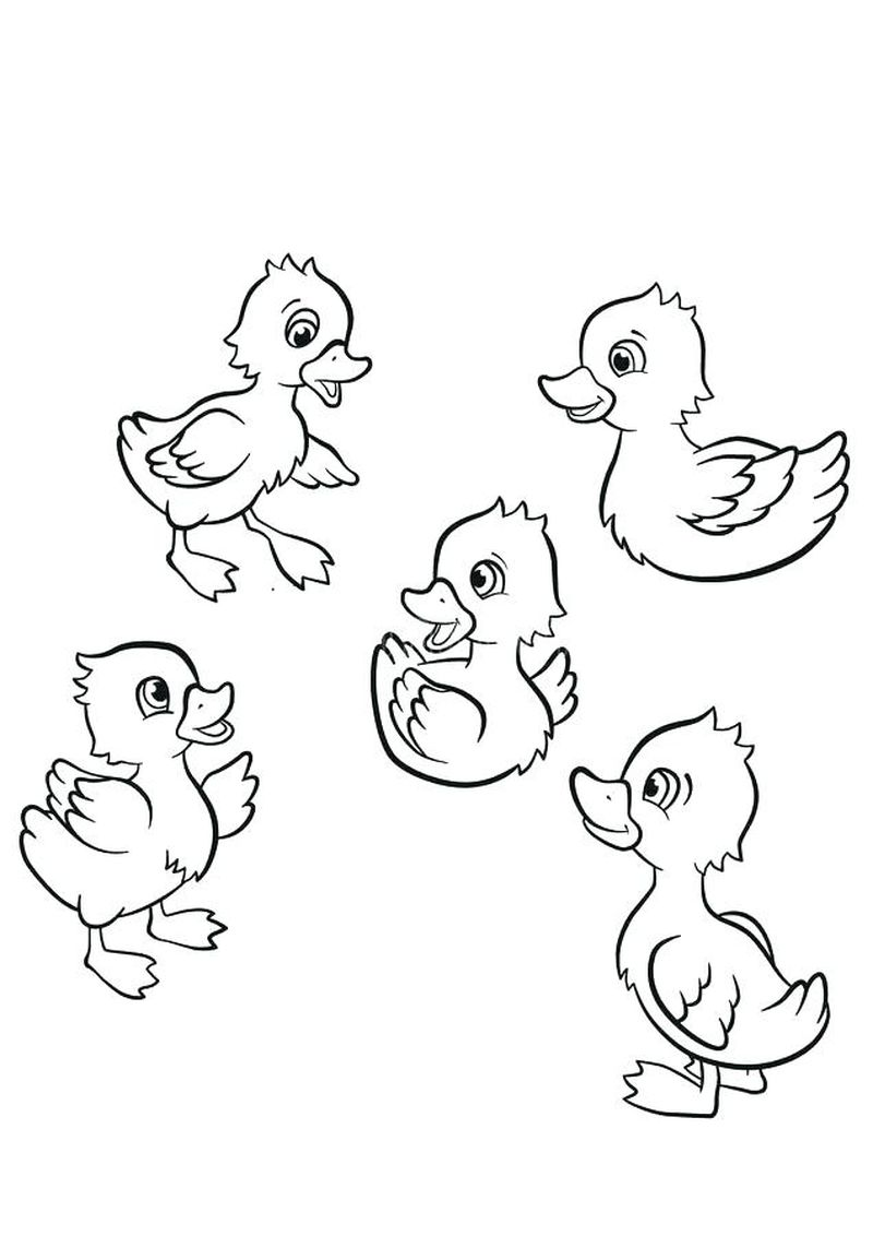christmas duck coloring pages