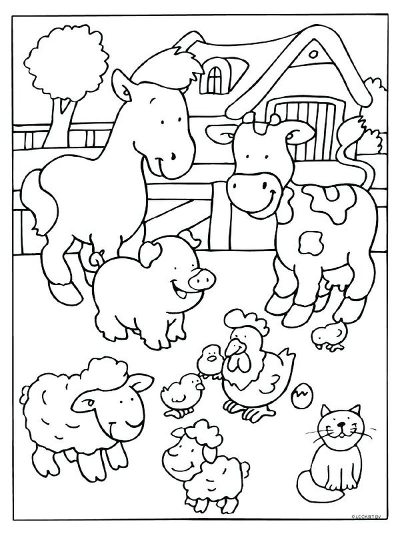 christmas farm coloring pages