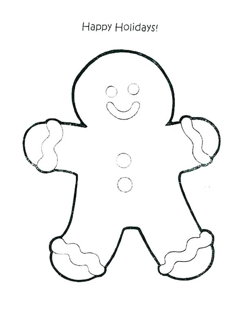 christmas gingerbread man coloring pages