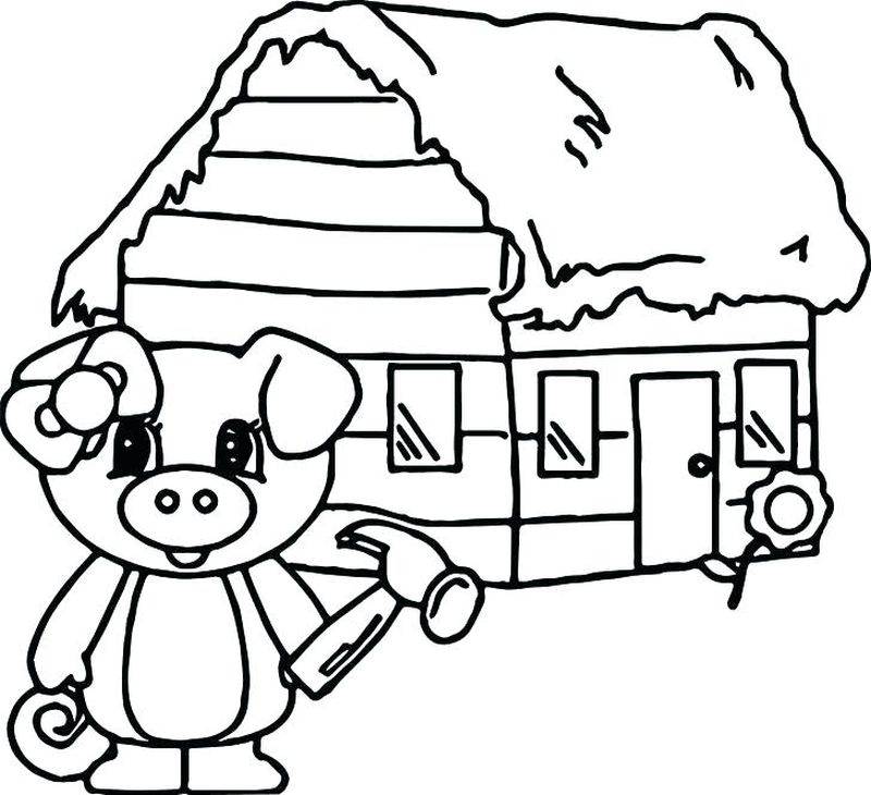 christmas pig coloring pages