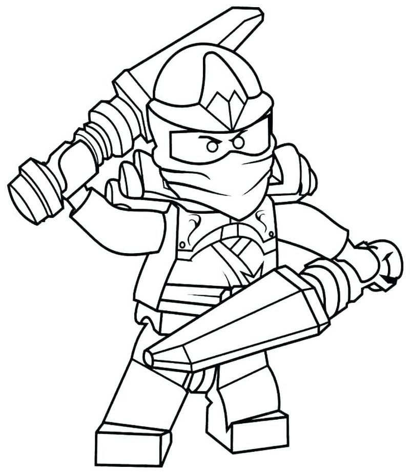 clumsy ninja coloring pages