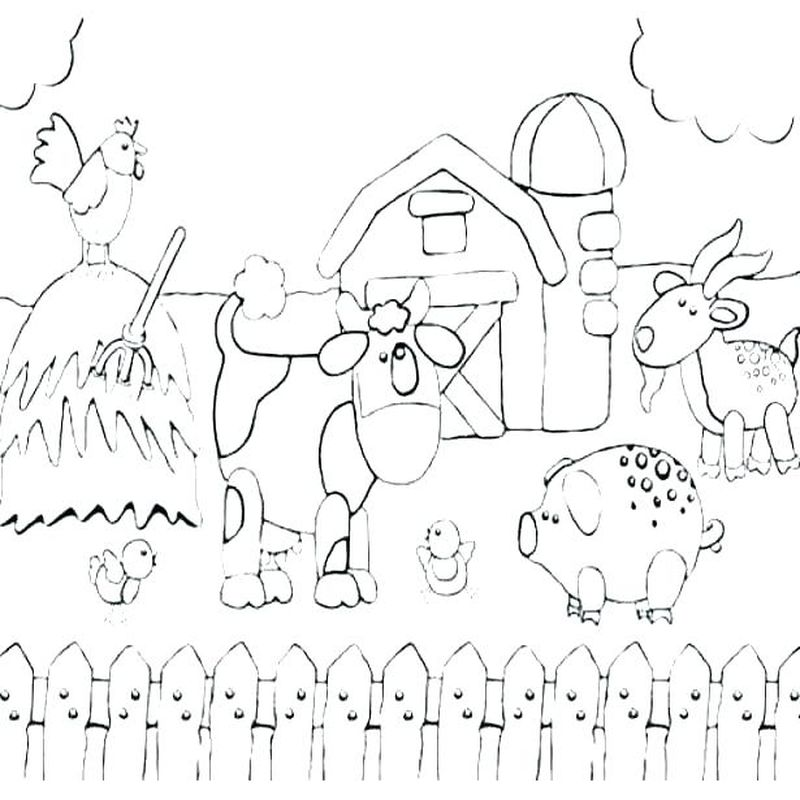 coloring farm animals pictures