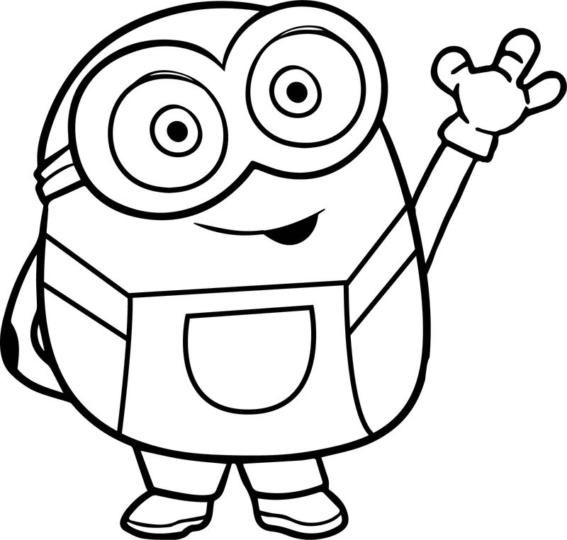 coloring in pages minions