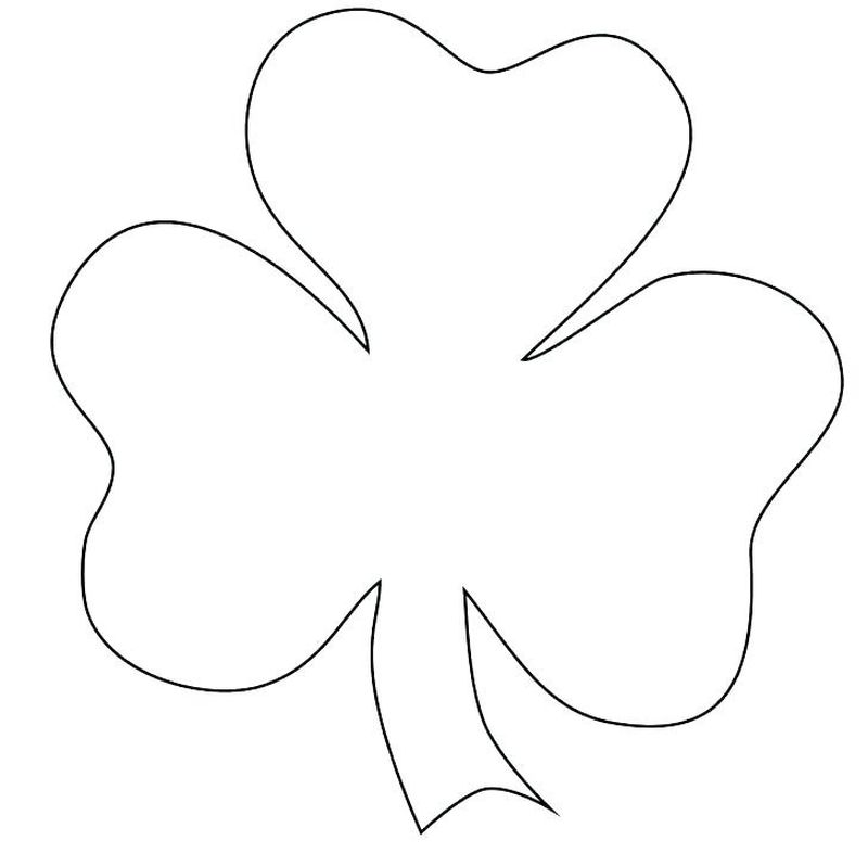coloring page of a shamrock free