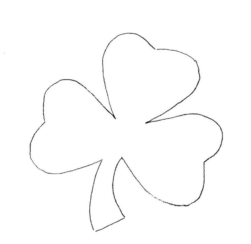 coloring page of shamrock