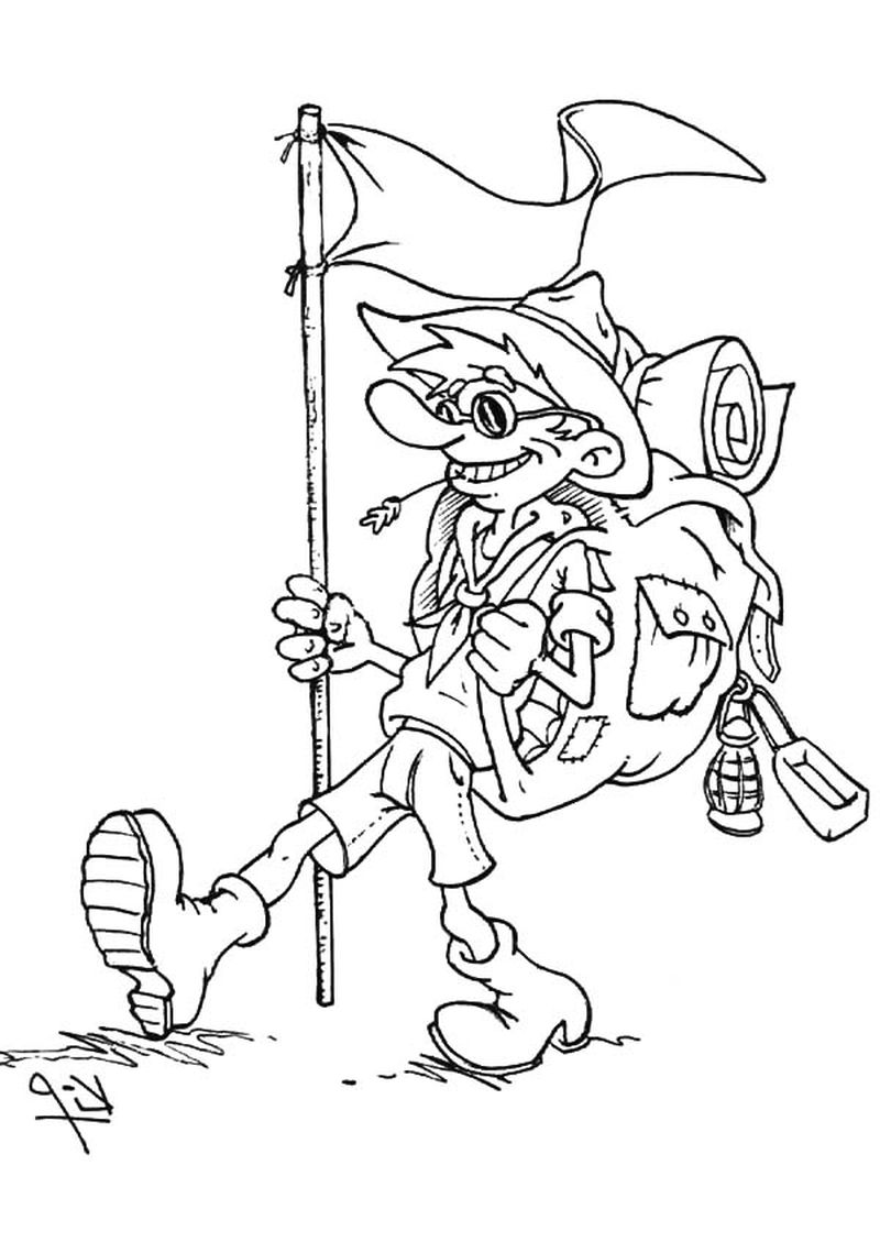 coloring pages about camping