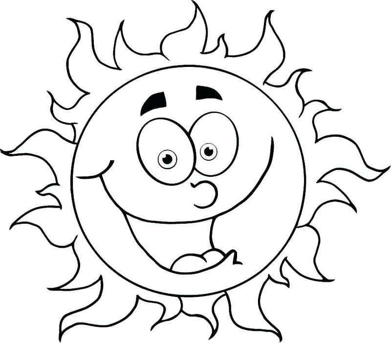 coloring pages about the sun