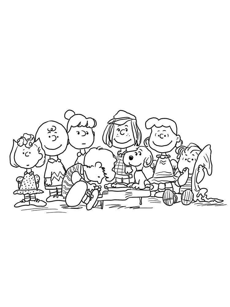 coloring pages charlie brown christmas tree