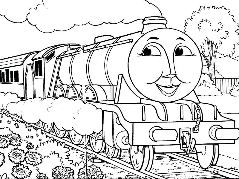 coloring pages for adults thomas the train