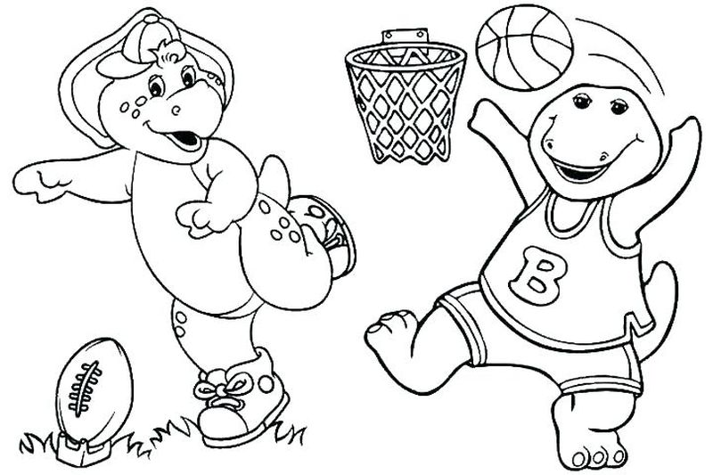 coloring pages for barney