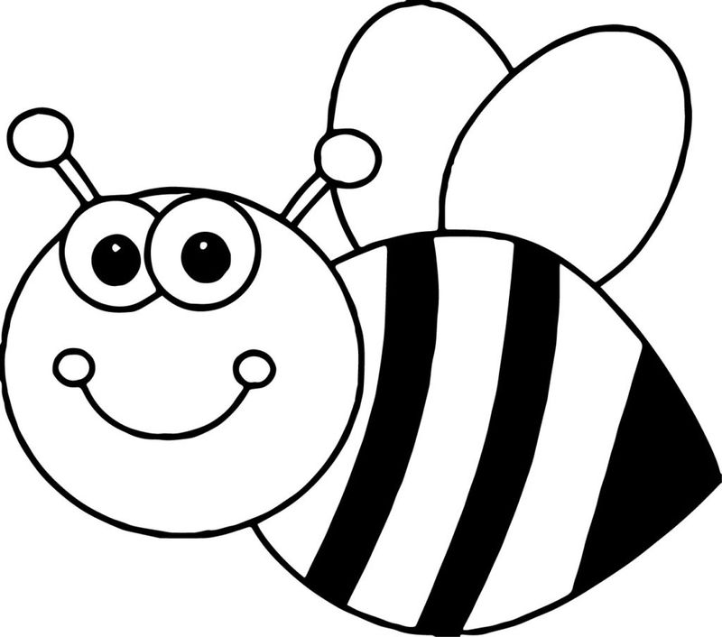 coloring pages for bee