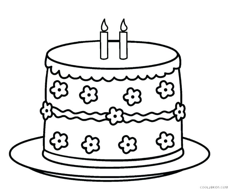 coloring pages for cake