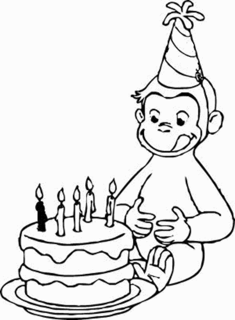 coloring pages for curious george