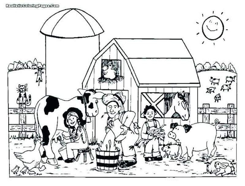 coloring pages for farm animals