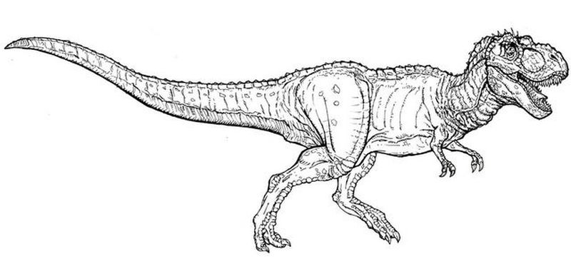 coloring pages for jurassic world