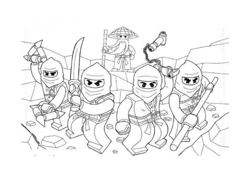 coloring pages for lego ninjago