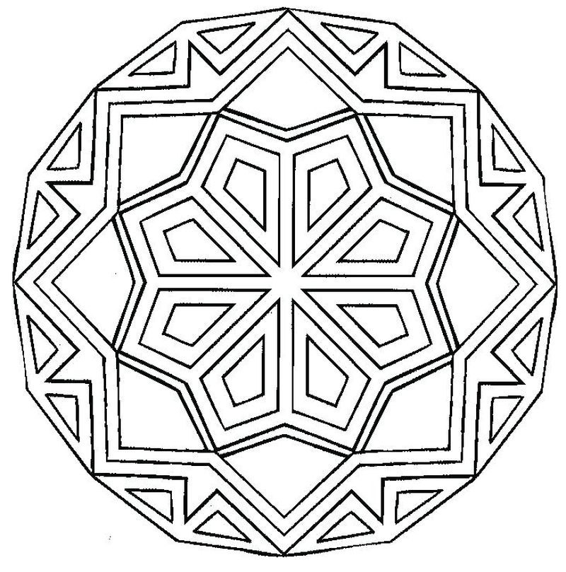 coloring pages geometric figures