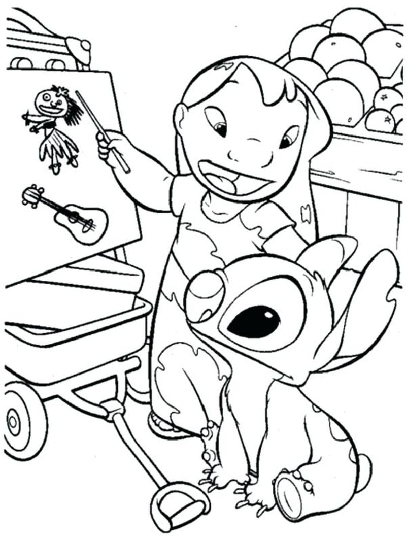 coloring pages lilo and stitch disney