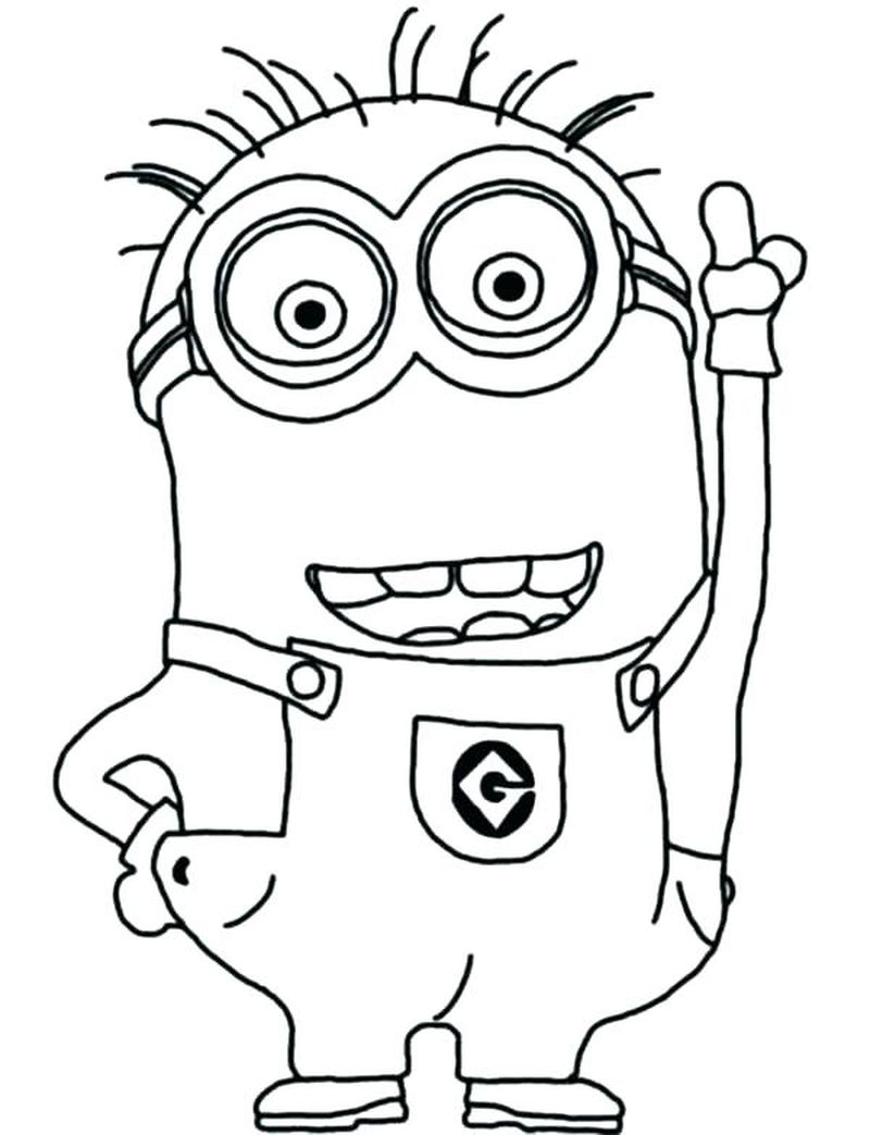 coloring pages minions despicable me