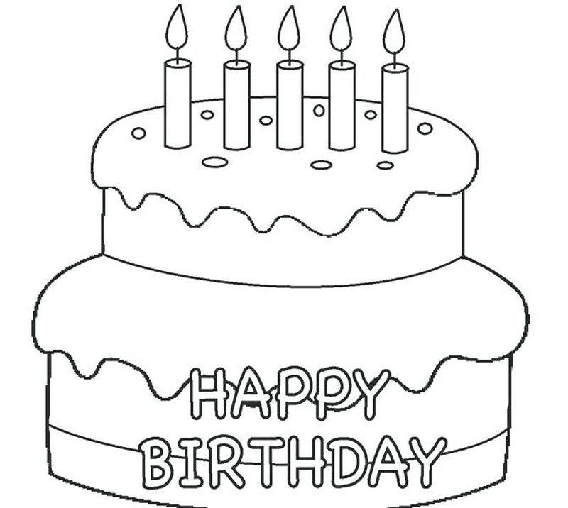 coloring pages of a cake