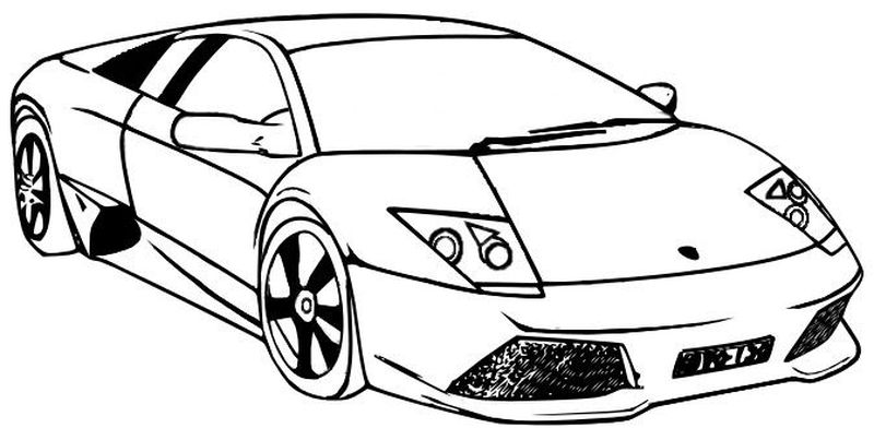 coloring pages of a lamborghini