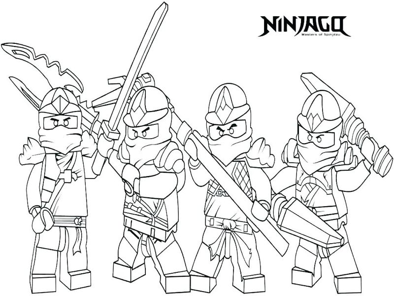 coloring pages of a ninja
