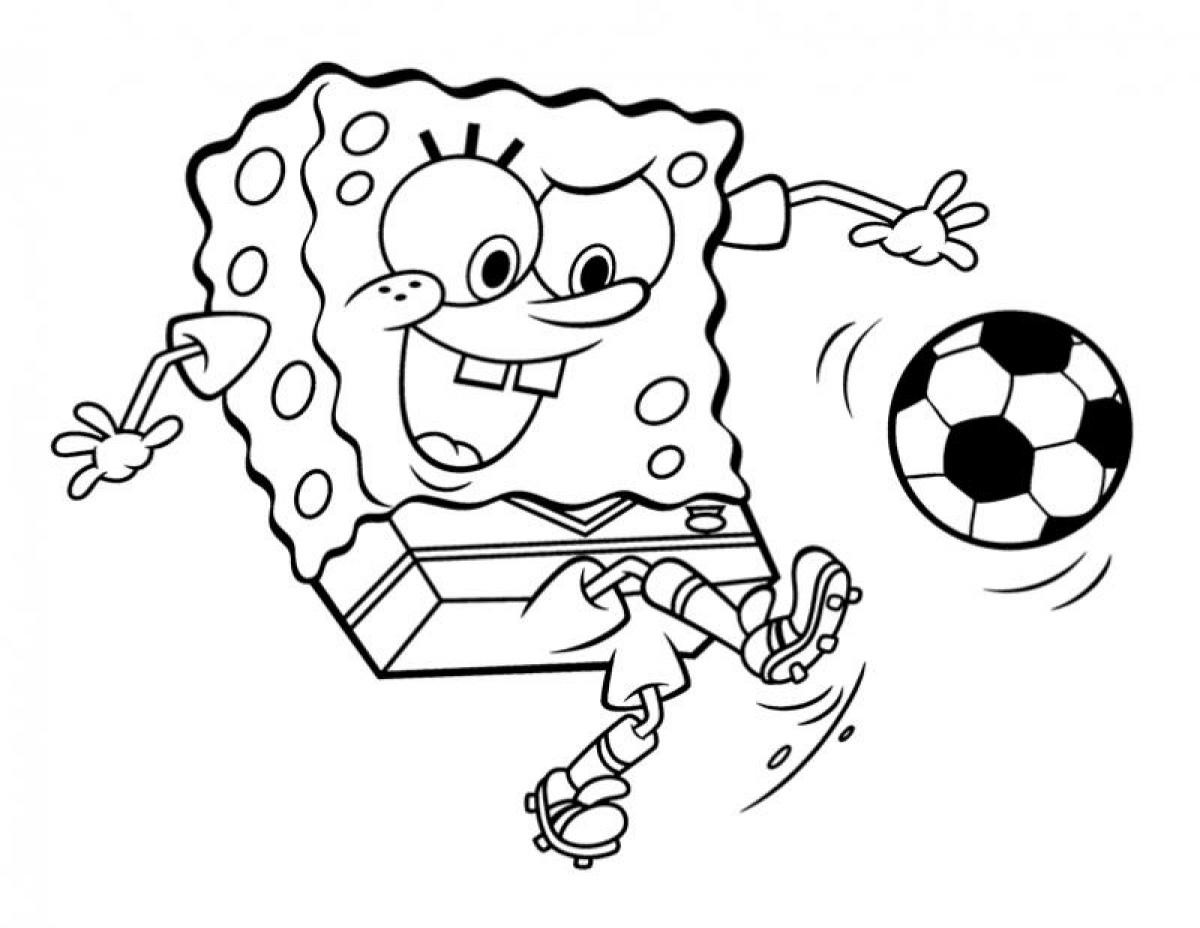 coloring pages of a soccer ball