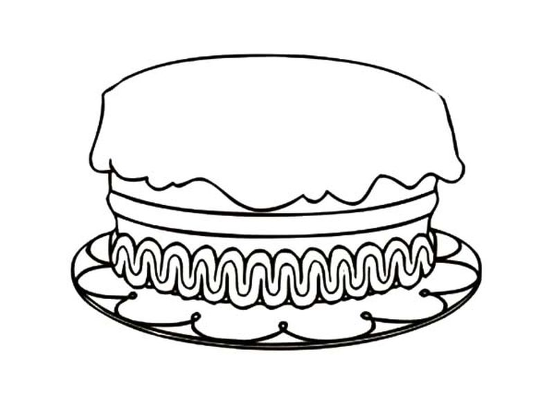 coloring pages of birthday cake