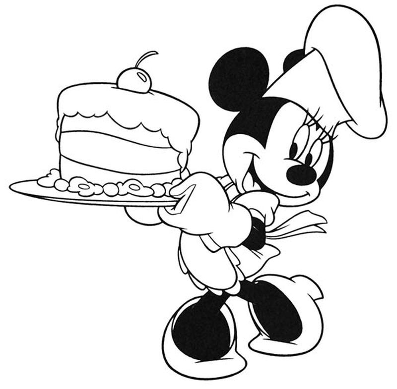 coloring pages of cake