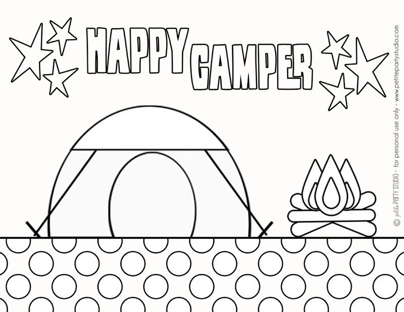 coloring pages of camping out