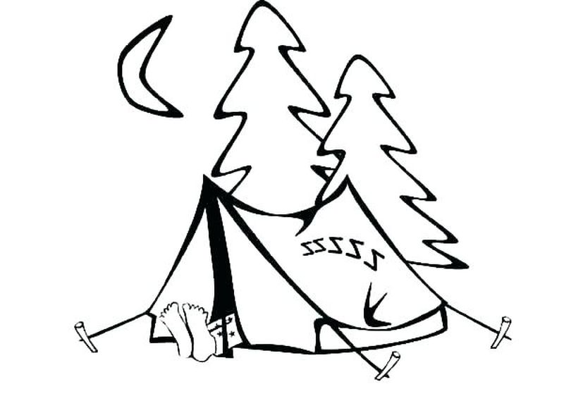 coloring pages of camping