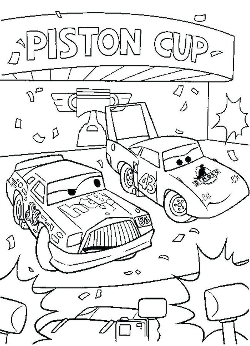 coloring pages of cars 3