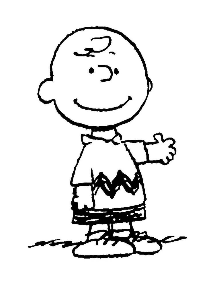 coloring pages of charlie brown and snoopy