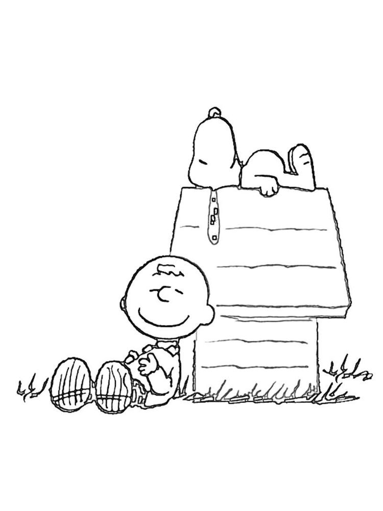 coloring pages of charlie brown characters